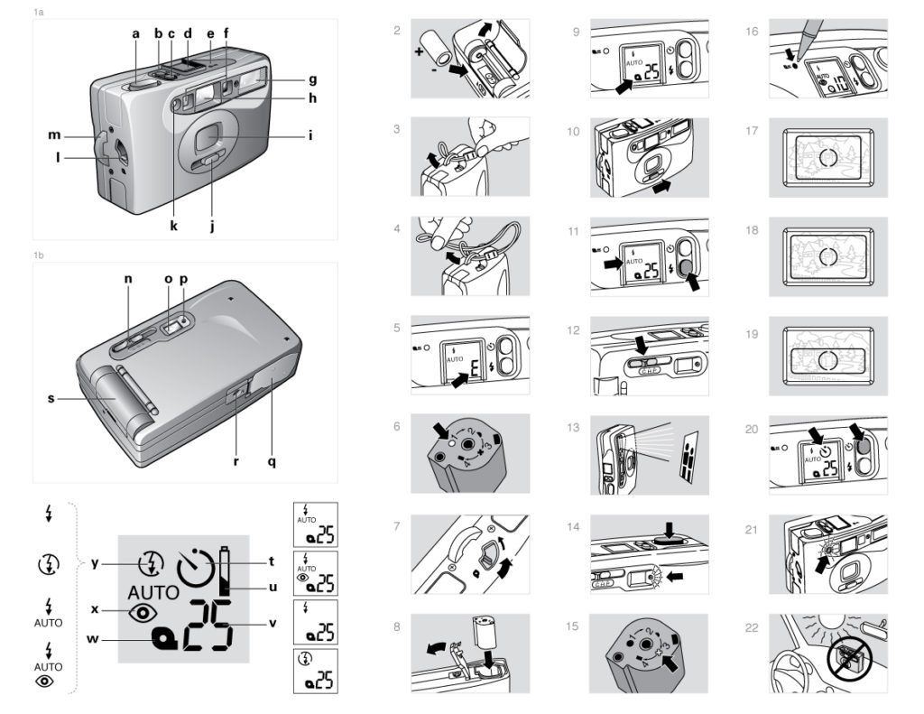 Polaroid AF Camera Manual Artwork
