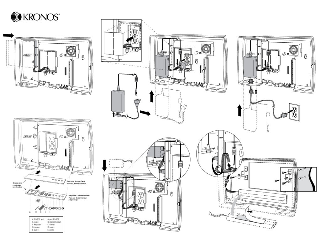 Kronos Time Clock Technical Manual Artwork